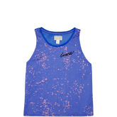 Womens Two Tone Swing Tank Laser Blue