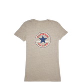 Womens Heathered Chuck Taylor Patch Tee Vintage Grey Heather