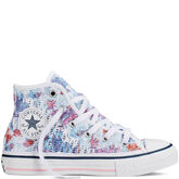 Chuck Taylor All Star Floral Crochet Yth/Jr Spray Paint Blue/White/Pink