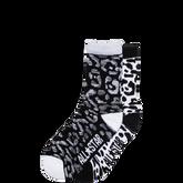 Youth Marled Animal Crew Socks 2 Pk Black