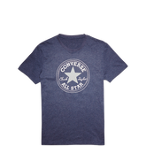 Mens Heathered Chuck Taylor Patch Tee Nighttime Navy Heather