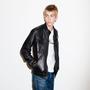 Mens Double Pocket Leather Jacket Jet Black