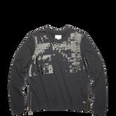 Womens Coated Zipper Crewneck Sweatshirt Black