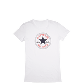 Womens Heathered Chuck Taylor Patch Tee White