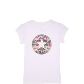 Girls Chuck Taylor Patch Floral Fill Tee 6-12 Yrs White
