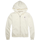 Womens Chuck Taylor Patch Full Zip Hoodie  Egret