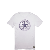 Mens Sketched Chuck Taylor Patch Tee Optic White