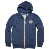 Boys Chuck Taylor Patch Full Zip Hoodie 6-12 Yrs Converse Navy