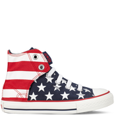 Chuck Taylor Easy Slip Flag Yth/Jr Red/White/Blue