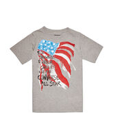 Boys Streaming Flag Tee 6-12 Yrs Vintage Grey Heather
