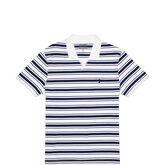 Mens CONS Striped Polo Soccer Tee White