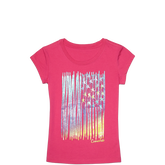 Girls Wave My Colors Tee 6-12 Yrs Cosmos Pink