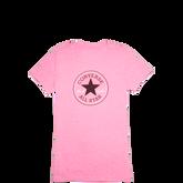 Womens Heathered Chuck Taylor Patch Tee Dahlia Pink Heather
