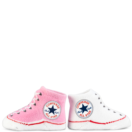 Converse Infant All Star Sock Booties 2Pk 0 6 Months Pink