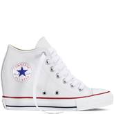 Chuck Taylor All Star Lux Wedge Leather White/White/Clematis Blue