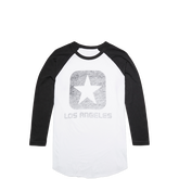 Mens Los Angeles Raglan Tee Phantom
