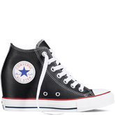 Chuck Taylor All Star Lux Wedge Leather Black/Black/White
