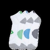 Mens 3Pk Star Chevron Low Cut Sock White