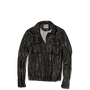 Mens Faux Leather Biker Jacket Jet Black
