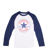 Boys Chuck Taylor Patch Raglan Tee White