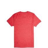 Mens Blank Slim Crew Tee Varsity Red Heather