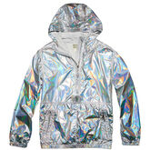 Womens Oil Slick Packable Jacket Silver