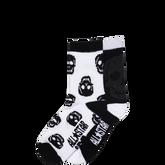 Youth Skull Crew Socks 2 Pk Black