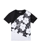 Womens Andy Warhol Floral Slouchy Tee Black