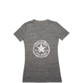 Womens Sketched Chuck Taylor Patch V Neck Tee Converse Black