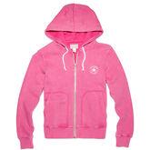 Womens Sunfade Full Zip Hoodie Plastic Pink