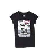 Girls Sneaker Tee 6-12 Yrs Black