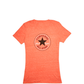 Womens Heathered Chuck Taylor Patch Tee Fire Heather