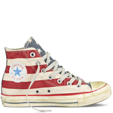 Chuck Taylor Distressed Flag White/Navy/Red