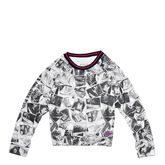 Girls Sublimated Boxy Raglan Tee 6-12 Yrs White
