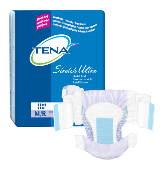 TENA Stretch Ultra Briefs Medium - 1 Pack 36 Count