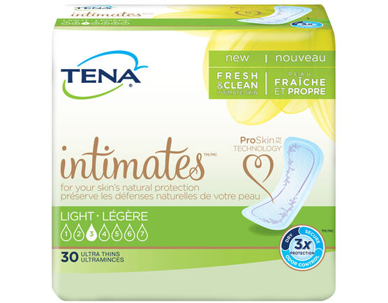 TENA Light Ultra Thin Light Incontinence Pads Regular 1 Pack - 30 Count