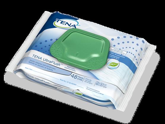 TENA UltraFlush  Washcloths - 1 Pack 45 Count