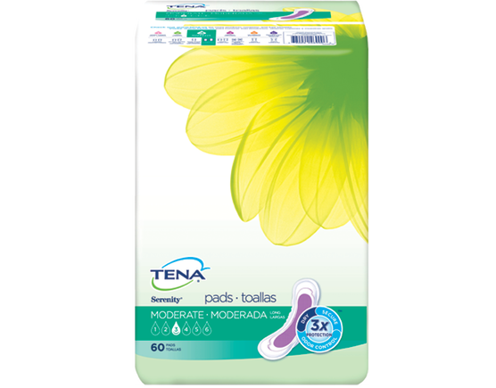 TENA Serenity Pads Moderate Long 1 Pack - 60 Count