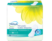 TENA Serenity Moderate Thin Pads Long
