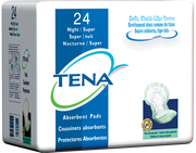 TENA Night Super Maximum Absorbency Pads - 1 Pack 24 Count
