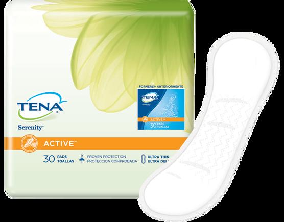 TENA® Serenity® ACTIVE™ Ultra Thin Pads Regular