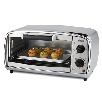 Oster® 4-Slice Toaster Oven, Stainless Steel