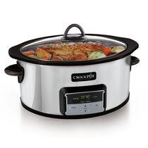 Crock-Pot® 6-Quart Slow Cooker with Stovetop-Safe Cooking Pot, Polished