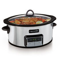 Crock-Pot® 6-Quart Slow Cooker with Stovetop-Safe Cooking Pot, Polished