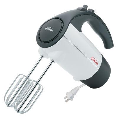 Sunbeam® Mixmaster® 220-Watt Hand Mixer with Retractable Cord, White