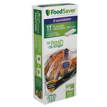 "FoodSaver® Expandable Heat Seal Rolls, 2-Pack, 11""x16'"
