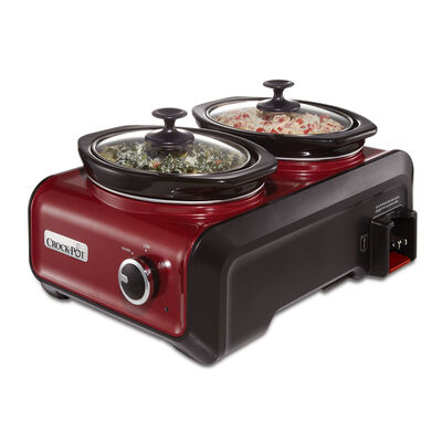 Crock-Pot® Hook Up® Connectable Entertaining System, Two 1-Quart, Metallic Red