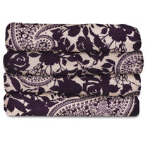 Sunbeam® Microplush Heated Throw, Paisley Garden & Eggplant