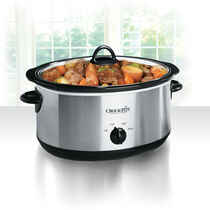 Crock-Pot® 8-Quart Manual Slow Cooker, Stainless Steel
