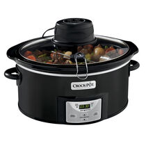 Crock-Pot® 6Qt. Oval Programmable Digital Slow Cooker with iStir™ Stirring System, Black
